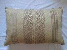 Designer Cut Velvet Chenille Cushion Pillow Cover  Mink Light Brown & Cream