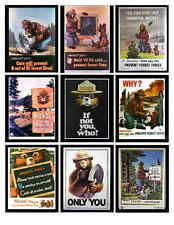 SMOKEY THE BEAR PHOTO-FRIDGE MAGNETS Set of 9