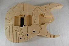 Unfinished RG Jem Engraved JPM Guitar Body JS- Fits Ibanez (tm) Necks P284