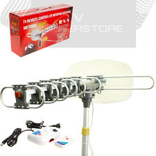 HDTV 1080p Outdoor Amplified Antenna 360 Rotor Digital UHF VHF FM HD TV 150 Mile