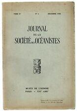 OCEANIE ETHNOLOGIE JOURNAL DE LA SOCIETE DES OCEANISTES TOME 4 1948 MYTHES