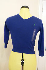BNWT Ralph Lauren Long Sleeve V Neck Boston Royal Blue Cotton Jumper. Age 5