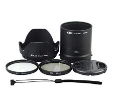 6in1! 62mm UV CPL Filter + Lens Adapter Tube Cap Hood Set for NIKON COOLPIX L840