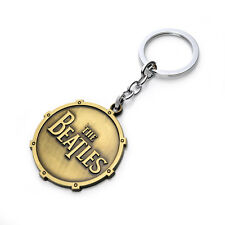 1pcs Key Chain Ring The Beatles Band sign Metal Pendant jewelry Gold