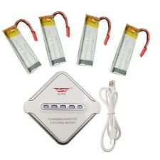 4x3.7V 500mAh Lithium Battery+JST 4in1 Charger For UDI U817A U817C RC Quadcopter