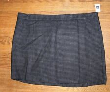 Gap Women's Navy Blue Tweed Wool Blend Skirt Size 20