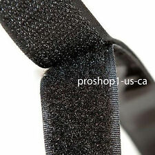 "Self Adhesive Hook and Loop 1"" 25 yard yd Tape Sticky Black Fastener"