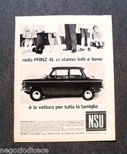 O204 - Advertising Pubblicità - 1967 - NSU PRINZ 4L , CI STANNO TUTTI BENE