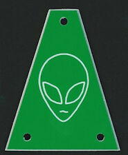 GUITAR TRUSS ROD COVER - Custom Engraved - Fits JACKSON - ALIEN HEAD - GREEN
