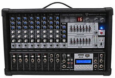 Rockville RPM109 12 Channel 4800w Powered Mixer, 7 Band EQ, Effects, USB, 48V
