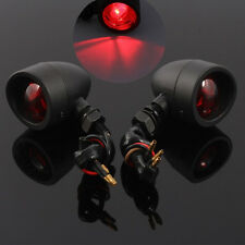 2X Motorcycle Break Turn Signals Mini Bullet Blinker Amber Indicator Lights Lamp