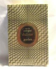 Vintage 1967 Guerlain Shalimar Eau De Cologne 3 oz. No.305 Factory Sealed Box