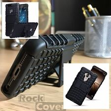 Huawei Honor 5X  Rugged Tough Military Case Tech 2017 Survival Rock Cover Black