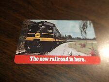 1968 SCL SEABOARD COAST LINE THE NEW RAILROAD IS HERE LAMINATED POCKET CALENDAR