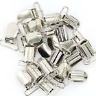 Lot 20 Metal Suspender Pacifier Holder Mitten Clips Silver Tone Ring Length 25mm