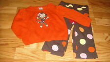 GYMBOREE 12-18 PURRFECT AUTUMN FALL FOR MONKEYS SWEATER SET