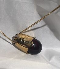 Vintage Avon Eggplant Perfume Bottle Necklace - Unique Pendant