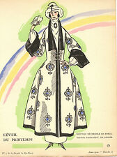 Gazette Du Bon Ton SIMEON L'EVEIL DU PRINTEMPS Rodier Fashion POCHOIR Art Deco