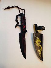 Collectable Miniature Fantasy Sword Letter Opener With Leather Holster. No.2
