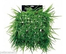 Betta New Plastic Aquarium Plant Mat long Green Hair Grass 25 x 25 cm pp453