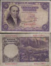 Estado Español. 25 Pesetas año 1936. FLOREZ ESTRADA. Serie E. Nº 04172863.