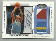 2004-05 Carmelo Anthony Fleer Hot Prospects Double Team Auto Patches 13/25