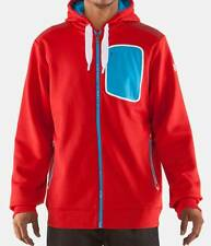 UNDER ARMOUR Mens Hoodie Fed Hill FZ Jacket LARGE Red Blue NWT 1234717 $100