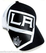Los Angeles Kings NHL Reebok Black White Mesh Hat Cap Stadium Series Snapback