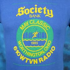 vintage 1985 WORTHINGTON OHIO WTVN RADIO MARATHON PAPER THIN T-Shirt XS 80s
