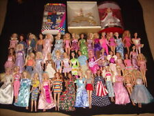 LARGE LOT OF 49 MATTEL BARBIE KEN DOLLS with Clothes Various Years + 3 NIB