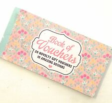 Voucher Book 20 Novelty gift vouchers mother sister grandma girlfriend CRAFTMUM