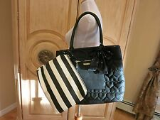 """NWT BETSEY JOHNSON  """"Bag In Bag"""" Black Tote + Pouch To Go (2 Piece Set) $138"""
