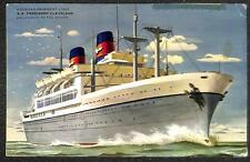 JAPAN SCOTT # 371 387 & 433 STAMPS S.S PRESIDENT CLEVELAND SHIP AIRMAIL POSTCARD