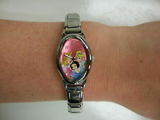 Disney Princess, Disney Collectible Watch, Italian Stainless Steel, Charm Bracel