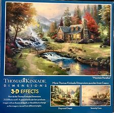 Free Shipping 300 Piece Over-sized 3-D Effect Puzzle Mountain Paradise