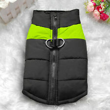 26'' Green Warm Dog Clothes Waterproof Coat Padded Vest Jacket for Large Dogs