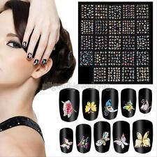 24PCS Nail Art Transfer Stickers 3D Butterfly Manicure Tips Decal Decorations