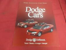 1999 Dodge Cars Pamphlet Neon Stratus Avenger Intrepid