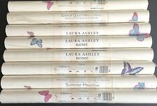 Laura Ashley Summer Meadow Cerise Wallpaper roll floral 8 Avail Price Pr Roll