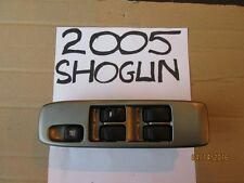 02-06 SHOGUN 3.2 FRONT RIGHT DRIVERS WINDOW SWITCH SILVER MR587930