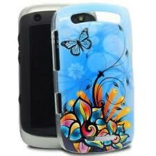 Blackberry Curve 9350 9360 9370 Mobile Phone Cover Hard Blue Butterfly Stocking