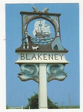 The Town Sign Blakeney Norfolk 1999 Postcard 352a