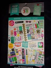 """Happy Planner """"QUOTES"""" STICKER BOOK 30pgs 427pcs Some Real Motivational Beauties"""