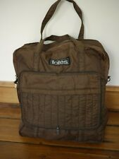 Vintage 1070s TOTES Brown Nylon Carry-on Travel Gym Book Tote Knitting Bag