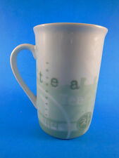 Starbucks Coffee 1998 Porcelain Tea Cup Teh Green White excellent condition