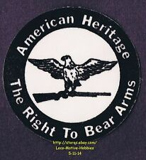 LMH PATCH Flocked Badge AMERICAN HERITAGE Eagle Gun RIGHT TO BEAR ARMS Amendment