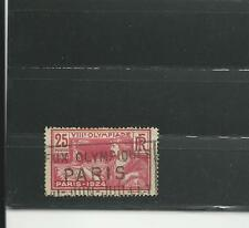Olympic Games 1924 France Olympic stamp + cancel