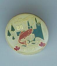 1980 Dryden Ontario Lapel Hat Pin Enamel Vintage Pin