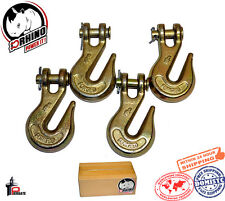 "(4) D-Rhino 5/16"" Clevis Grab Hooks G70 Truck Trailer Transport Tow Chain Hook"
