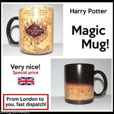 Harry Potter Marauder's Map Color Changing Magic black heat sensitive Coffee Mug